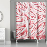 Designs Direct Candy Canes Shower Curtain