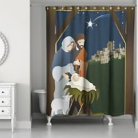Designs Direct Traditional Nativity Shower Curtain
