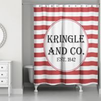 Designs Direct Kringle and Co. Christmas Shower Curtain