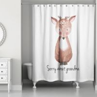 "Designs Direct ""Sorry About Grandma"" Reindeer Shower Curtain"