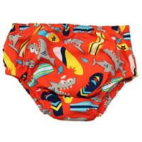 Swim Time Size 12-18M Big Bite Reusable Swim Diaper in Red