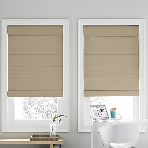 Real Simple 174 Roman Shade In Khaki Bed Bath Amp Beyond