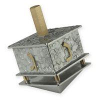 Joy Stember Metal Arts Studio Small Full Pattern Hanukkah Dreidel in Silver/Gold