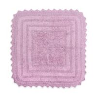 Design Imports Reversible Crochet 24-Inch Round Bath Mat in Mauve
