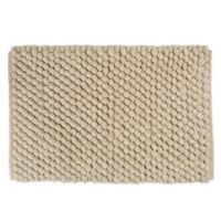 """Design Imports 24"""" x 17"""" Chenille Bath Rug in Taupe"""