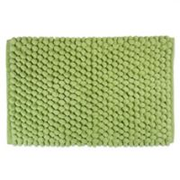 "Design Imports 24"" x 17"" Chenille Bath Rug in Green"