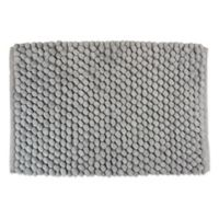 "Design Imports 24"" x 17"" Chenille Bath Rug in Grey"
