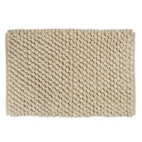 """Design Imports 34"""" x 21"""" Chenille Bath Rug in Taupe"""