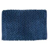 "Design Imports 34"" x 21"" Chenille Bath Rug in Blue"