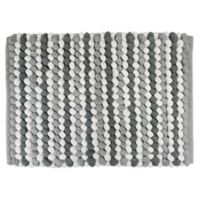 Design Imports Chunky 17-Inch x 24-Inch Striped Bath Mat in Grey