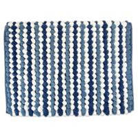 Design Imports Chunky 21-Inch x 34-Inch Striped Bath Mat in Blue