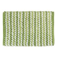 Design Imports Chunky 21-Inch x 34-Inch Striped Bath Mat in Green