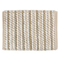 Design Imports Chunky 21-Inch x 34-Inch Striped Bath Mat in Taupe