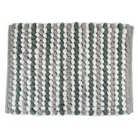 Design Imports Chunky 21-Inch x 34-Inch Striped Bath Mat in Grey