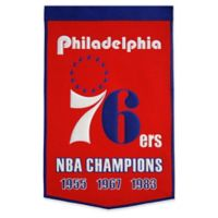 NBA Philadelphia 76ers 3-Time NBA Champions Banner