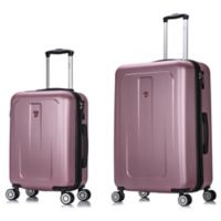 DUKAP® Crypto 2-Piece Hardside Spinner Luggage Set in Rose Gold