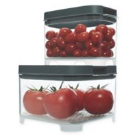 Rubbermaid Freshworks Countertop Small Produce Containers with Lids in Grey/Clear (Set of 4)