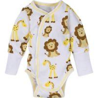 Miracle Wear™ Newborn Posheez Snap'n Grow Long sleeves Bodysuits in Gold (3-Pack)