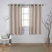 Exclusive Home Virenze 63-Inch Grommet Window Curtain Panel Pair in Taupe