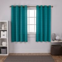Exclusive Home Virenze 63-Inch Grommet Window Curtain Panel Pair in Teal