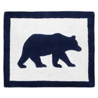 """Sweet Jojo Designs® 30"""" X 36"""" Tufted Accent Rug in Navy Blue/white"""