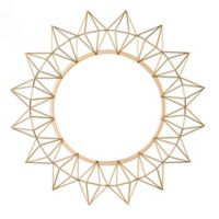 Southern Enterprises Krystyna Sunburst Mirror in Gold