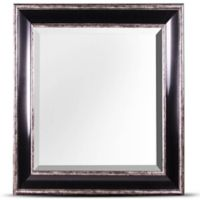 Crystal Art Hartley Square Wall Mirror in Black