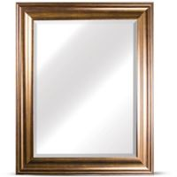 Crystal Art Framed Rectangular Wall Mirror in Golden Bronze