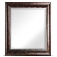 Crystal Art Hartley Square Wall Mirror in Bronze
