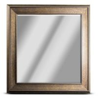 Everett 23.1-Inch Square Wall Mirror in Brown