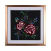 Graham & Brown Flowers 16-Inch Square Acrylic Framed Print in Black
