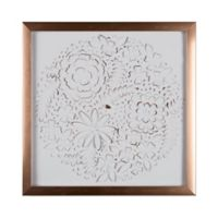 Graham & Brown Flowers 16-Inch Square Acrylic Framed Print in White