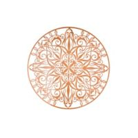 Graham & Brown Mandala 31.49-Inch x 31.49-Inch Metal Art in Metallic