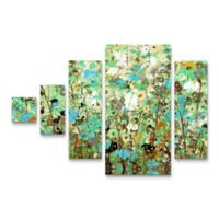 Trademark Fine Art Flowering Vines 5-Piece Canvas Wall Art