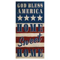 Masterpiece Art Gallery God Bless America 34-Inch x 17-Inch Canvas Wall Art