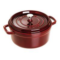 Staub 4 qt. Round French Cocotte in Dark Red