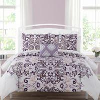 Carine 12-Piece Reversible Queen Comforter Set in Mauve