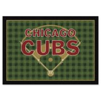 """MLB Team Field Chicago Cubs 5'4"""" x 7'8"""" Area Rug"""
