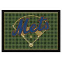 "MLB Team Field New York Mets 5'4"" x 7'8"" Area Rug"