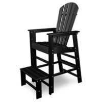 POLYWOOD® South Beach Lifeguard Chair in Black