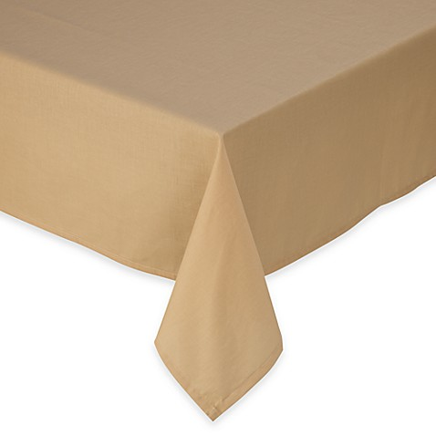 Tuscan 60-Inch x 84-Inch Oval Solid Tablecloth in Wheat