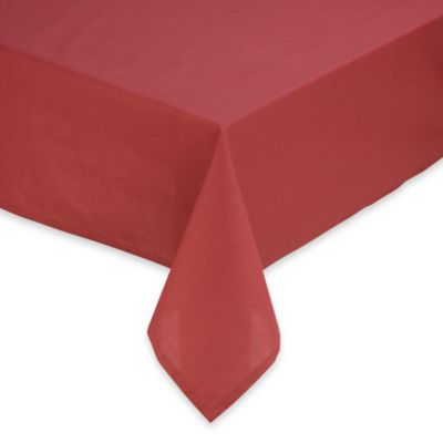 Tuscan 60 Inch X 104 Inch Solid Tablecloth In Brick