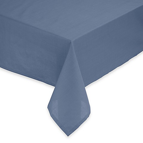 Tuscan 60-Inch Round Solid Tablecloth in Blue