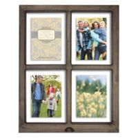 Windowpane 4-Photo 5-Inch x 7-Inch Float Frame in Grey