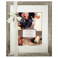 Beveled Matted 11-Inch x 14-Inch Photo Frame in Champagne
