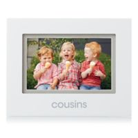 "Pearhead® 4-Inch x 6-Inch ""Cousins"" Sentiment Picture Frame in White"