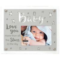 Maiden Love Stars Baby 4-Inch x 6-Inch Photo Frame in Grey