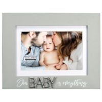 Maiden Baby Everything 4-Inch x 6-Inch Photo Frame in Grey