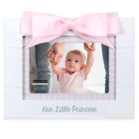 Maiden Princess Gingham 4-Inch x 6-Inch Photo Frame in White