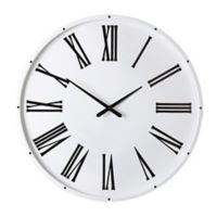 Southern Enterprises 36-Inch Roman Numeral Wall Clock in White